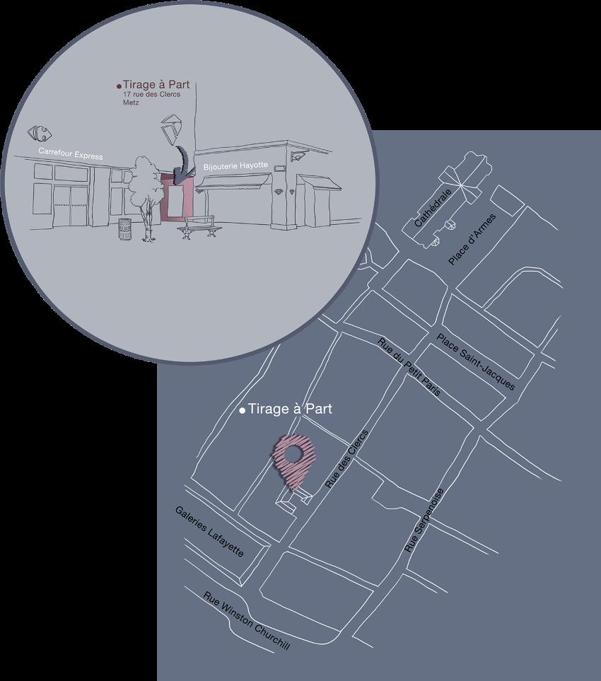 Plan d'accès Tirage à part à Metz